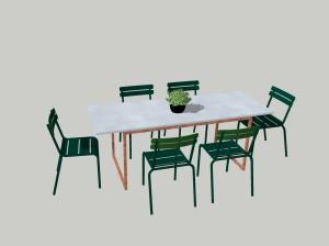 Egendesignat bord till altanen