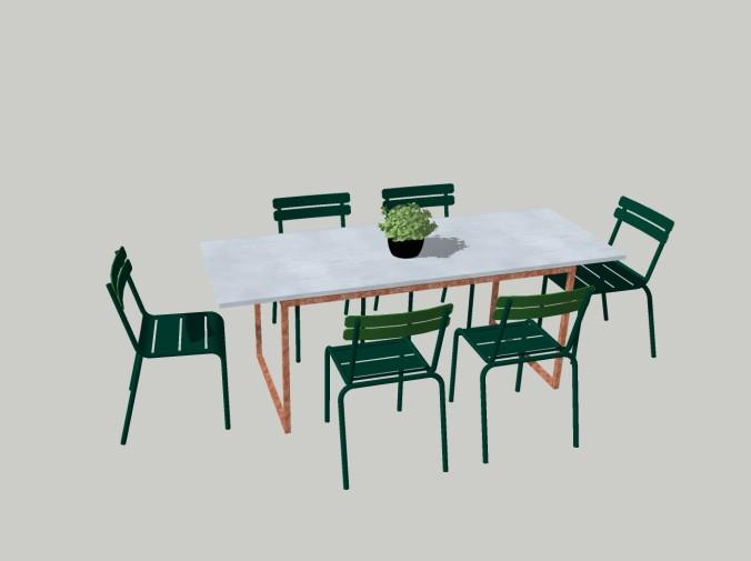 Egendesignat bord till altanen   arkitektens trädgård