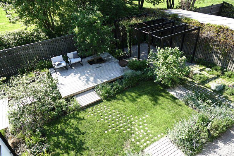 Orangeriet i vårskrud Arkitektens Trädgård
